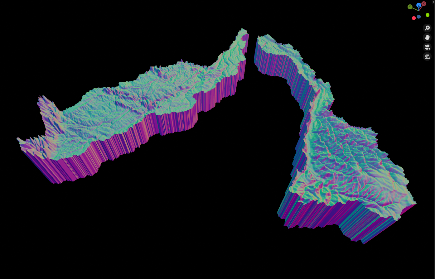 Caquetá-Japurá & Juruà sub bassins - Normal Map